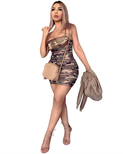 Camouflage camisole dress