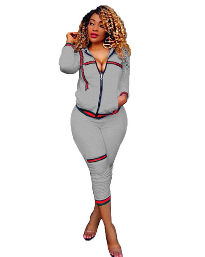 Grey Source wholesa XL two-piece fashion personality rib