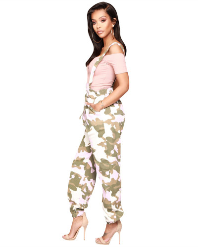 Pink Camouflage overalls