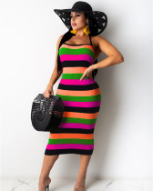 Pink Pit stripe dress