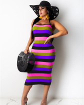 Purple Pit stripe dress