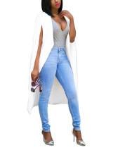 White Fashion Euro-American Women's Blazer