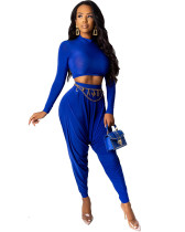 Blue Sexy two-piece suit
