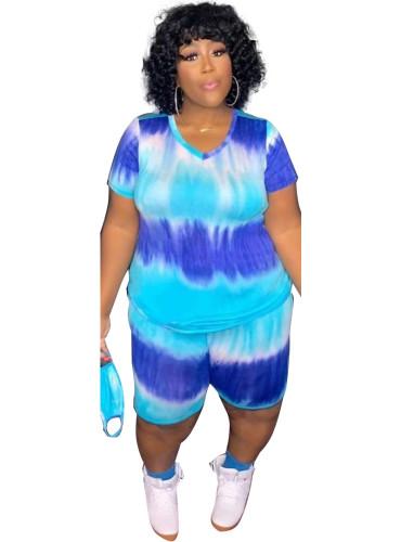 Blue Fashion home sports shorts suit