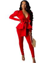 Red Business wear uniform casual wear