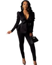 Black Business wear uniform casual wear