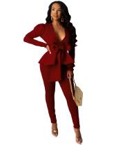 Dark Red Business wear uniform casual wear