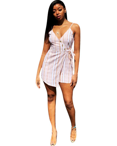 White Women's sexy casual fake dress sexy casual jumpsuit