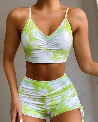 Green Split swimsuit new swimsuit