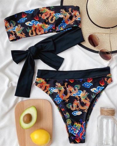 Split swimsuit bikini