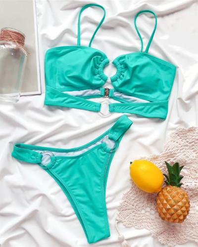 Ladies split swimsuit