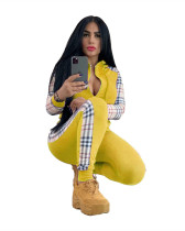 Yellow Two-piece jacket with hood