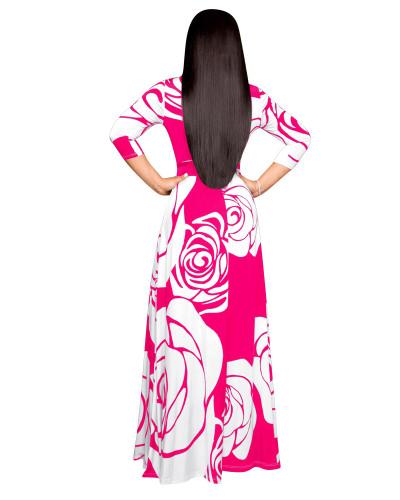 Rose Red Casual printed dress