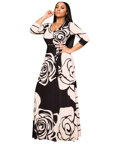 Black Casual printed dress
