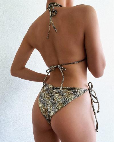 Leopard Triangle swimsuit