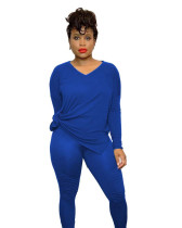 Blue Two-piece casual pants