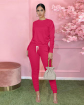 Rose red Sports two-piece suit