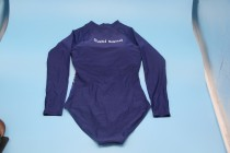 Sabi sand Womens Long Sleeve Rash Guard UV UPF 50+ Sun Protection Printed Zipper Surfing One Piece Swimsuit Bathing Suit