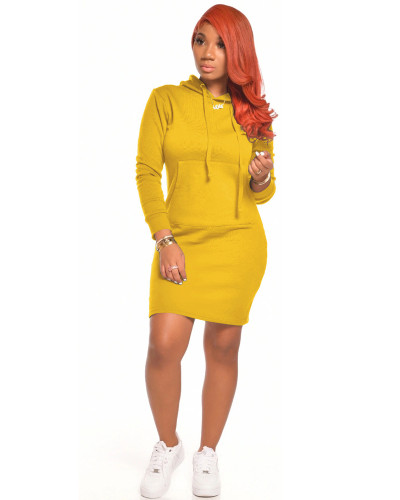 Yellow Casual sexy solid color dress