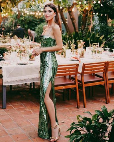 Sexy sling split dress