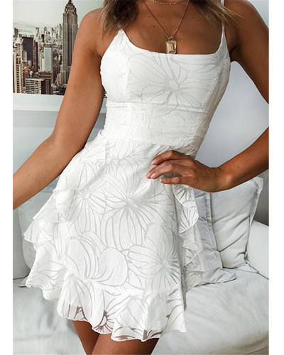 One word neck strap dress