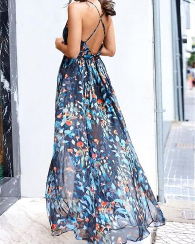 Sexy V-neck strap dress