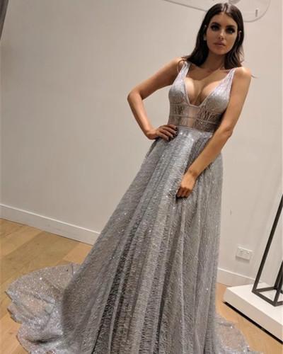 Sexy V-neck halter dress