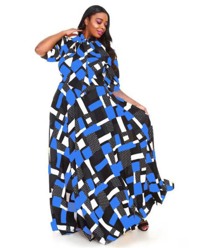 Printed waist dress