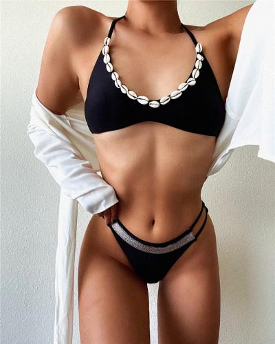 Black bikini strap swimsuit