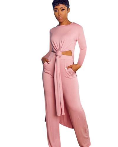 Pink Two-piece sports suit