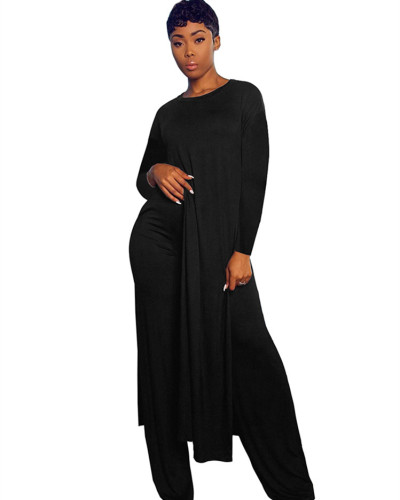 Black Two-piece sports suit