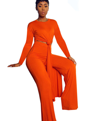 Orange Two-piece sports suit