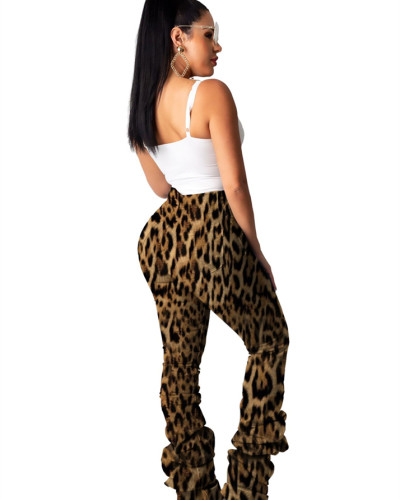Yellow Classic camouflage stretch pleated jeans