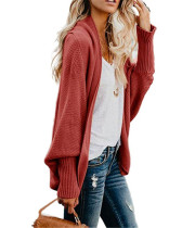 Red2 Knit sweater cardigan plus size women's multicolor coat