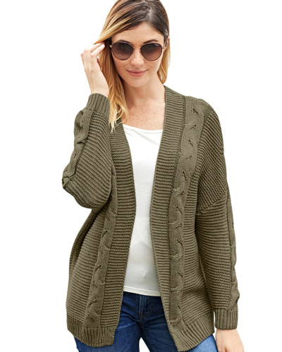 Light Brown Solid color mid-length coat