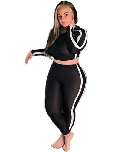 Long sleeve leisure sports two-piece suit