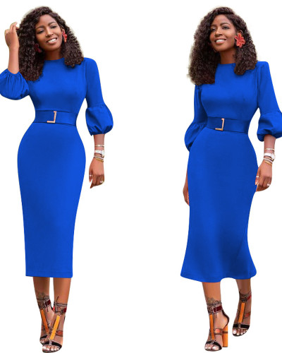 Blue Sexy slim dress