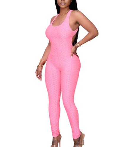 Pink Women's Amazon new four seasons evergreen multicolor jumpsuit