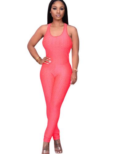 Orange Women's Amazon new four seasons evergreen multicolor jumpsuit