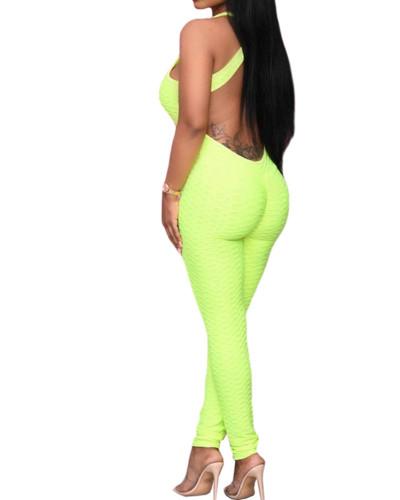 Green Women's Amazon new four seasons evergreen multicolor jumpsuit
