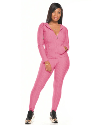 Pink Multicolor long sleeve sports suit