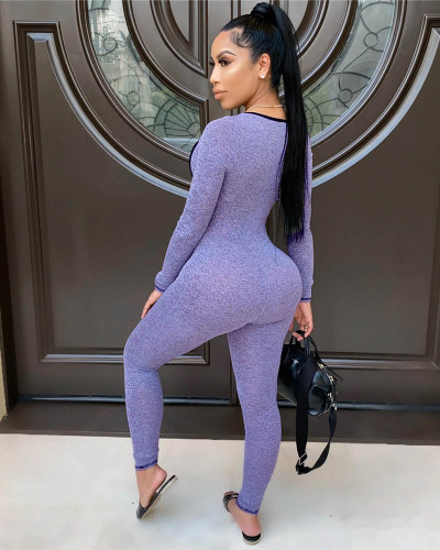 Violet Sexy top tights jogging sports jumpsuit