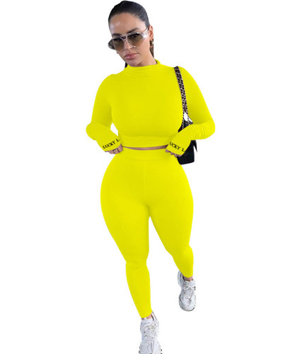 Yellow Sexy cute two-piece suit