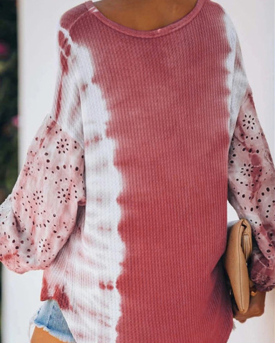 Pink Round neck long sleeve pullover