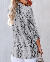 Dark Gray V-neck cardigan women's shirt