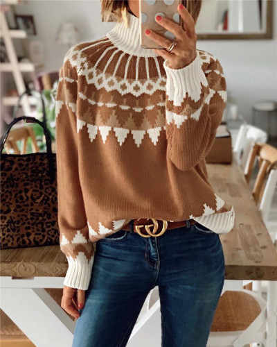 Apricot Turtleneck sweater pullover top