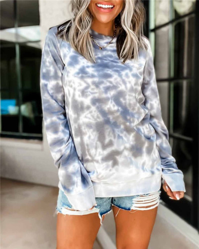 Gray Long sleeve pullover round neck ladies sweater