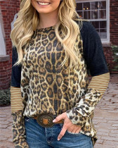 Round neck long sleeve ladies pullover top
