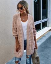 Pink Knit sweater long cardigan long coat