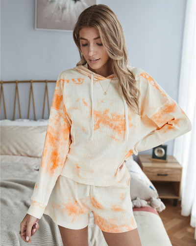 Orange Classic tie-dye suit
